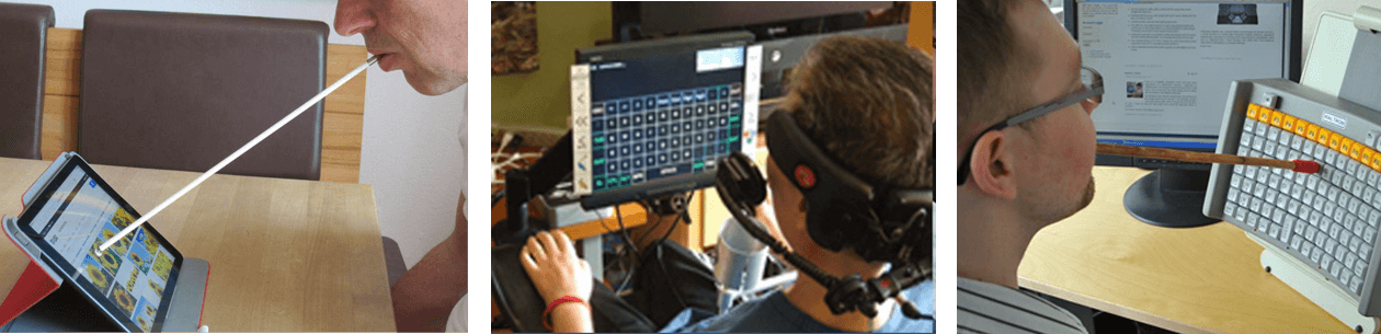 using assistive technologies headpointer
