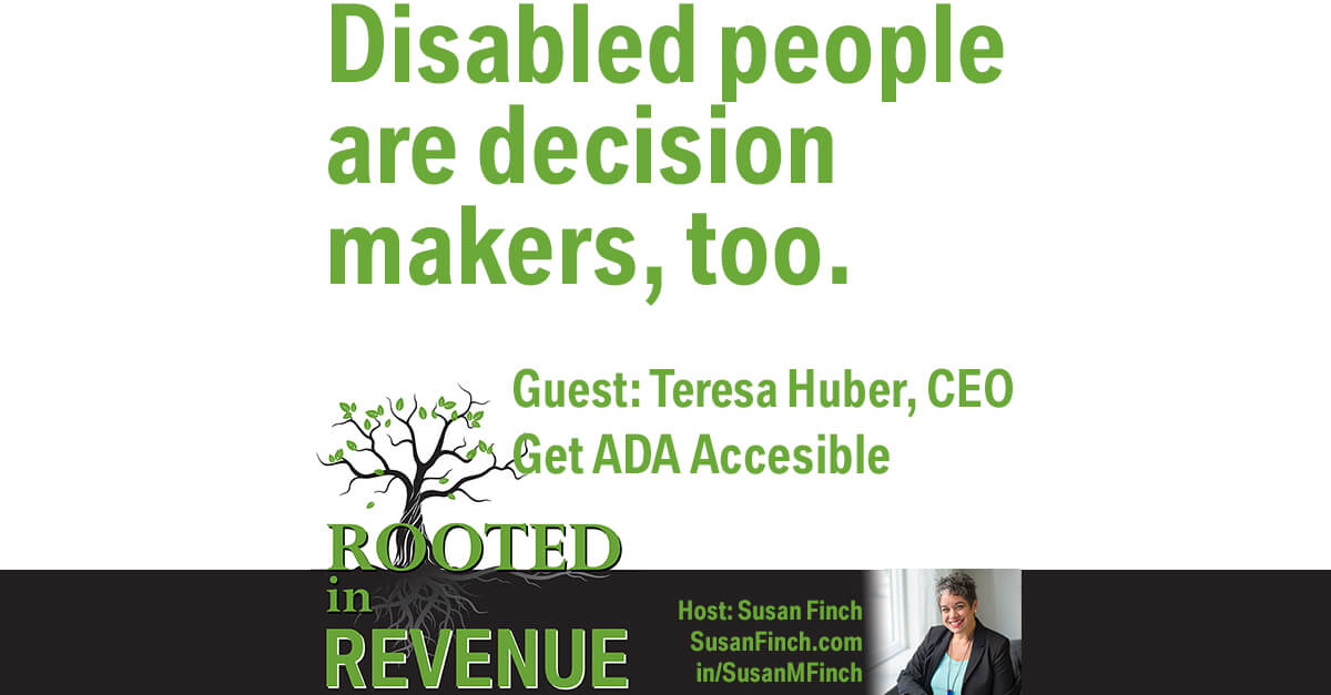 Disabled people are decision makers too podcast header